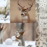 zakelijke kerstkaart dieren