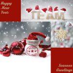zakelijke kerstkaart teamwork
