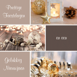 zakelijke kerstkaart goud