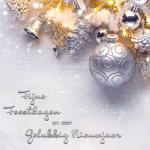 zakelijke kerstkaart zilver