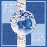 zakelijke kerstkaart blauw