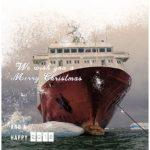 zakelijke kerstkaart maritiem