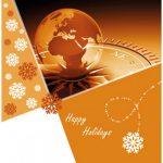 zakelijke kerstkaart wereld