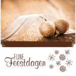 zakelijke kerstkaart bruin