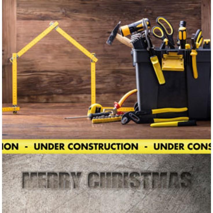 bouw klusser kerstkaart